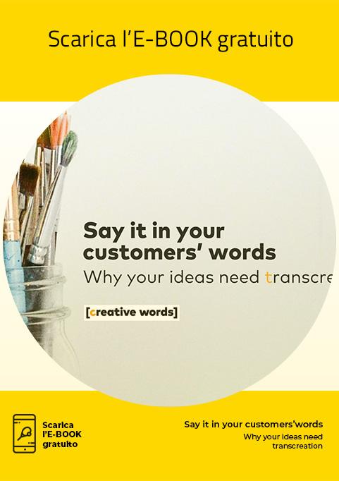 E-book, Say it in your customers' words - Creative Words, servizi di traduzione, Genova