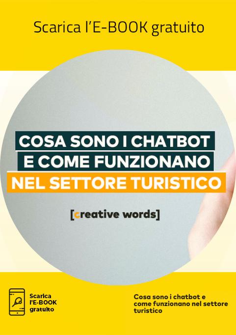 """Icona E-Book """"Cosa sono i chatbot e come funzionano nel settore turistico"""""""