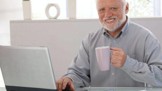 """Meme """"Hide the Pain Harold"""""""